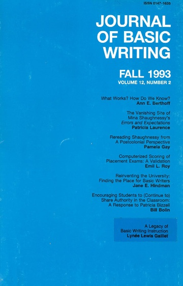 The Journal of Basic Writing