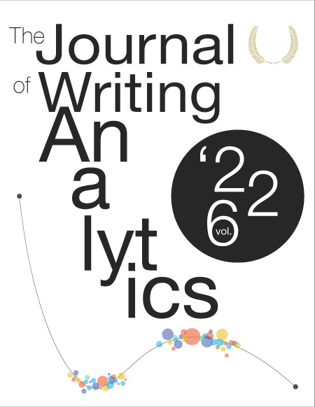 Cover of the May 2021 Journal of Writing Analytics